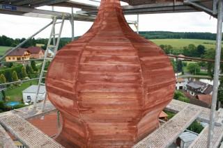 Tesařské práce na věži